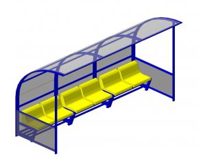 Лава запасних (6 місць) (пластикові сидіння у вартість включено)