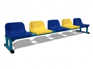 Лава запасних (5 місць) (пластикові сидіння у вартість включено)
