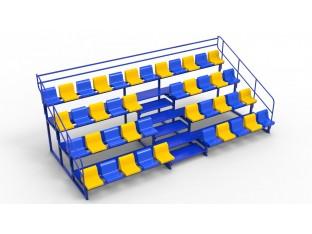 Трибуна модульна на 42 місця (сидіння пластикові, у вартість включено)