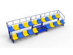 Трибуна модульна на 22 місця (пластикові сидіння у вартість включено)