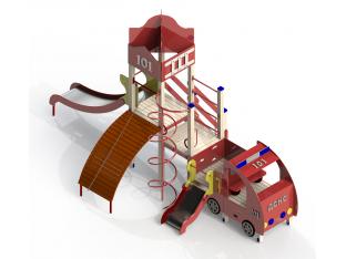 """Ігровий комплекс """"Юний пожежник + автомобіль"""""""