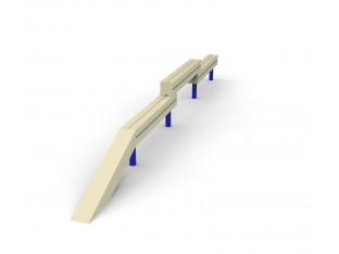 колода дерев'яна різнорівнева