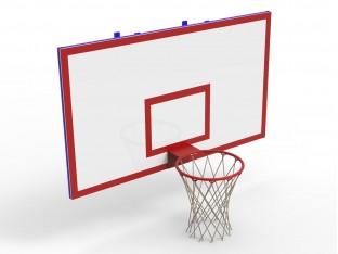 Щит баскетбольний на стіну (105х180), відступ 0,3м, фанера