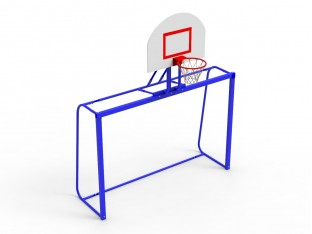 Ворота гандбольні + баскетбольний щит (90х120) - білі
